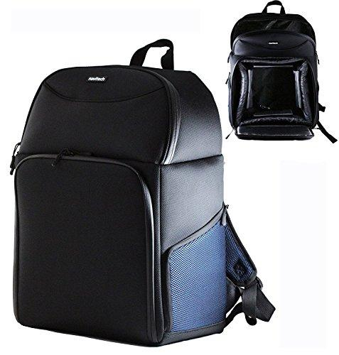 Navitech Rugged Black & Blue Backpack Rucksack Case for the Oculus Go all-in-one VR headset and Motion Controller