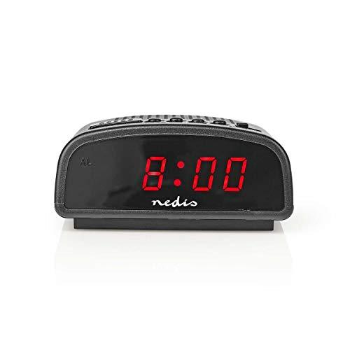 Nedis Digital P Alarm Clock with 0.6 Inch LED Screen