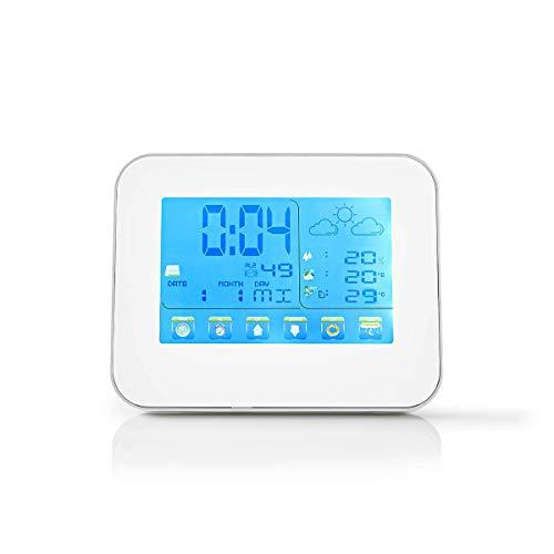 NEDIS WEST401WT Weather Station | Wireless sensor | Alarm clock | Weather Forecast