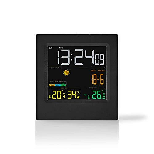 NEDIS WEST404BK Weather Station | Wireless sensor | Alarm clock | Weather Forecast