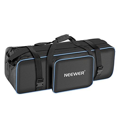 Neewer Large Photo Studio Photography Carrying Case Bag 29.1x10.6 x 9.84 inches with Shoulder Strap and Handle for Light Stand, Tripod, Umbrella, LED Light, Flash and Other Accessories (Black/Blue)