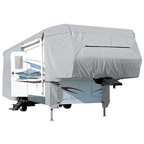 NEH® Waterproof Superior 5th Wheel Toy Hauler RV Motorhome Cover Fits Length 33'-37' New Fifth Wheel Travel Trailer Camper Zippered Panels Heavy Duty 4 Layer Fabric