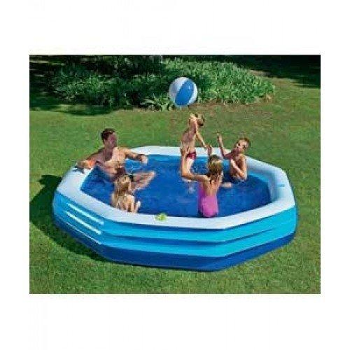 Neighbourhood Heavy Duty Inflatable Swim Centre Pool - 10ft - Blue. 1806 litres (3 air chambers each with double intake and free flow exhaust valve)