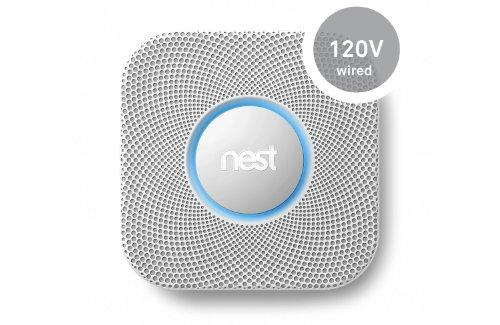 Nest Protect Smoke And Carbon Monoxide, 120-Volt, Wired, White (S1001Lw)