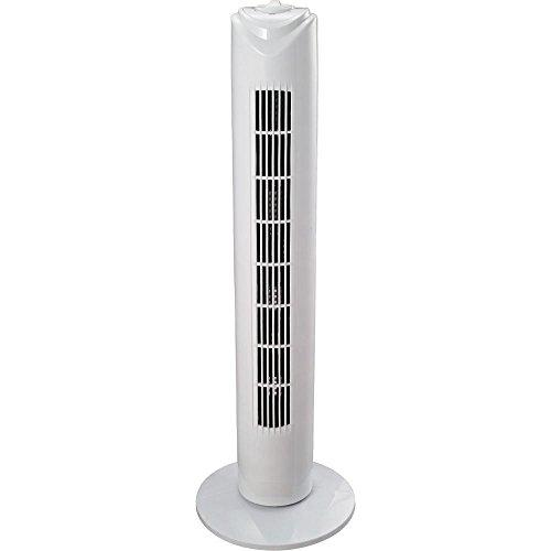 "New 29"" Tower Fan Oscillating Stand On Wall 45 Watt Home Office 3 Speed Control Panel"