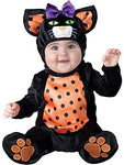 New Baby Halloween Mini Meow Cat Jumpsuit & Hood Fancy Dress Party Costume
