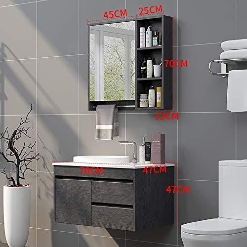 New Chinese Solid Wood Whole Floor Bathroom Cabinet Bathroom Set On The Wash Basin Sink Combination Small Apartment MODEL I