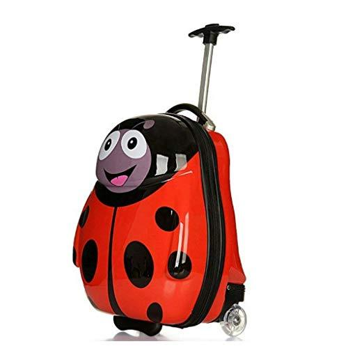 a81c9a6c17b3 New Egg Shaped Animal Hard Shell Kids Children's Trolley Case Luggage  Suitcase - Red Ladybird