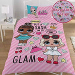 NEW LOL Surprise Glam Dolls Single Girls Duvet Cover Bedding Set REVERSIBLE KIDS