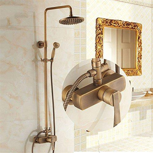 NewBorn Faucet Kitchen Or Bathroom Sink Mixer Tap Retro-Copper, Gold-Plated Shower Water Tap Shower Set Into The Wall Titanium Shower Heads And Hand Showers Golden Showers System B