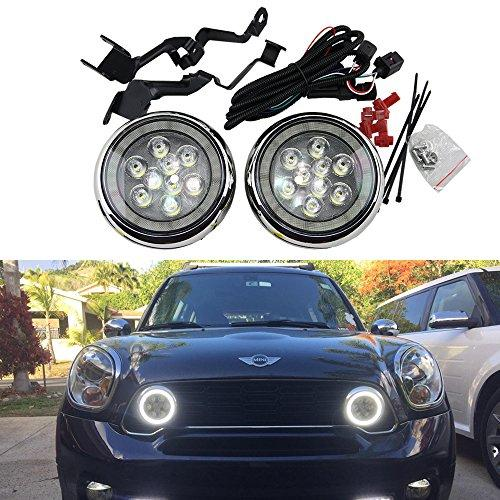 Newsun Daytime Running Light Fog Lights DC12V Super Bright White DRL rally Lights Car Styling