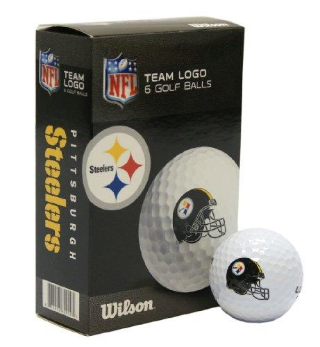 NFL Pittsburgh Steelers Golf Ball, Pack of 6
