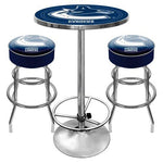 NHL Vancouver Canucks Ultimate Gameroom Combo - 2 Bar Stools & Pub Table