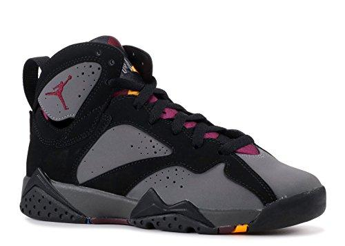 Nike Boys' Air Jordan 7 Retro BG Basketball Shoes, Grey (Black/Brdx-Lt Grpht-Mdnght Fg), 4.5 UK