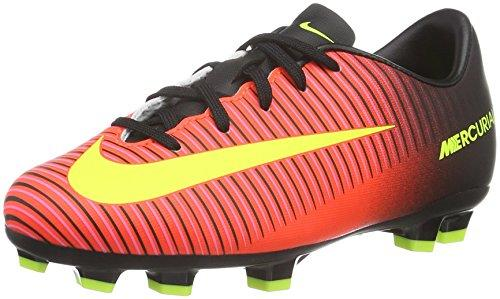 Nike Boys' Jr Mercurial Vapor Xi Fg football boots, Orange (Total Crimson / Vlt-Blk-Pnk Blst),4 UK( 36.5 EU)