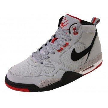Nike Flight 13 Mid – Men's Basketball Shoes – Grey/Black/Red Grey Size: 10