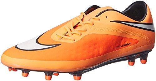 nike hypervenom phatal FG mens football boots 599075 soccer cleats firm ground (uk 7.5 us 8.5 eu 42, hyper crimson white atomic orange black 800)