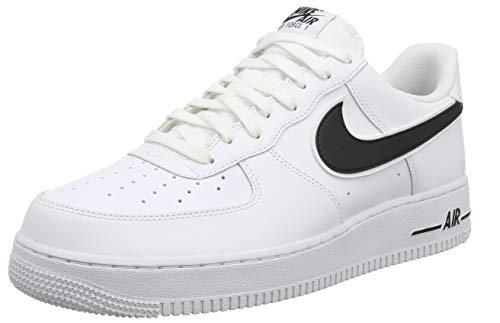 Nike Men's Air Force 1 '07 3 Basketball Shoes White/Black 101, 9.5 UK