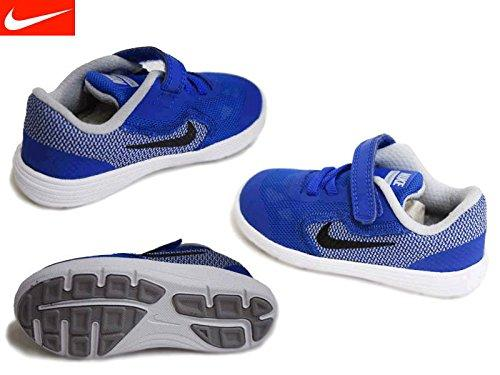 Nike Revolution 3 (TDV) - Trainers, Boy, Blue - (Game Royal/Black-Wolf Grey-White), 23.5