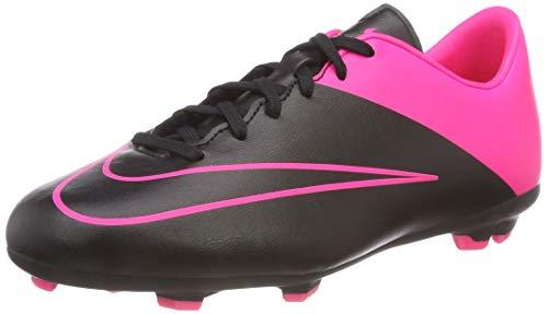 Nike Unisex Kids' Jr. Mercurial Victory V FG Football Boots (Race Shoes) Size: 2 Schwarz - Rosa
