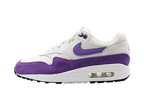 Nike Women's WMNS Air Max 1 Track & Field Shoes, Multicolour (Summit White/Atomic Violet/Black 000), 6 UK