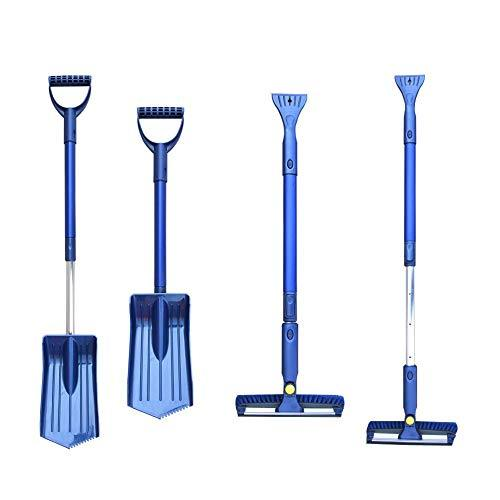 ningxiao586 Car Folding Snow shovel, Snow Shovel Ice Shovel Water Scraping Combination Snow Shovel Car Snow Brush