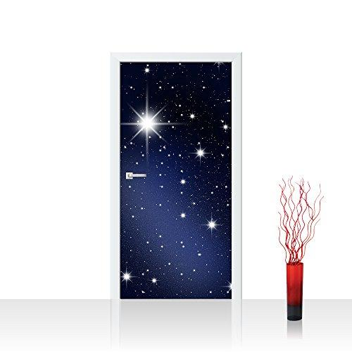 Non-woven photo door wallpaper 100x211 cm PREMIUM PLUS Door Wall Sticker Mural Photo - A MILLION STARS - Starry Sky Star Light Night Sky - no. 028