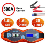 NoOne Car Jump Starter Power Pack, Portable 500A 12V Auto Lithium Ion Battery Starter, Heavy Duty Emergency Battery Booster for Truck Motorcycle (Capacity 3.0L Gas or 1.6L Diesel Engine)