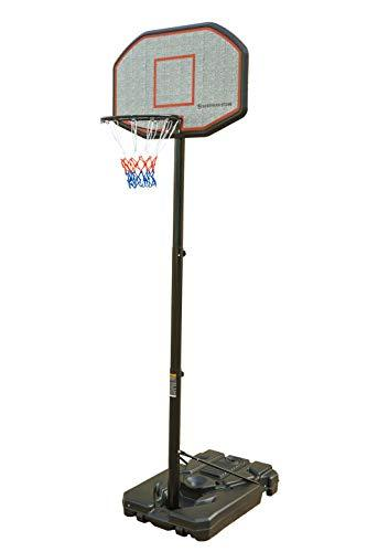 Northern Stone Pro Court Height Adjustable Freestanding Basketball Hoop with Impact Backboard Official Height