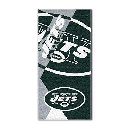 "Northwest NFL New York Jets Puzzle Beach Towel, 34""x72"", Green"