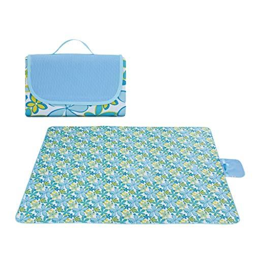Nosterappou Picnic mat moisture-proof pad outdoor products, waterproof backing, picnic outdoor camping beach blanket, tent mat grass mat widening picnic picnic cloth, storage compact, integrated foldi