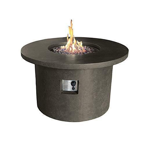 Nova - Mackay Round Outdoor Garden Patio Gas Fire Pit Table - Coffee