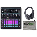 Novation Circuit Mono Station Paraphonic Analog Synthesizer w/Geartree Cloth and Headphones