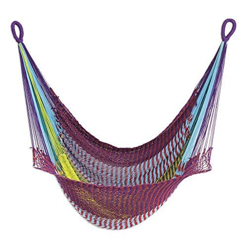 NOVICA Cotton rope hammock swing, Relaxation in Mind
