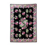 "NOVICA Roses of Kashmir' (4.5 x 7) Chain Stitched Wool Rug, 4.5"" x 7"""