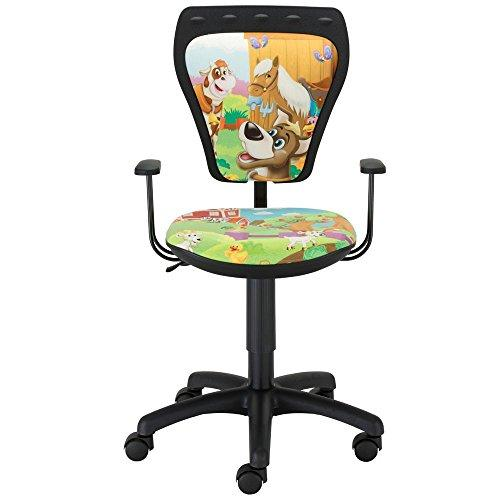 Nowy Styl Nursery Farma desk chair swivel chair Boys Girls Mini kids new armrests
