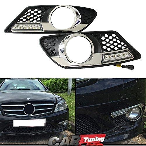 NSLUMO Direct-Fit LED Daytime running Light DRL Fog lamp For Benz W204 C300 C350 08-11 dimming style 12V Led car Light Source