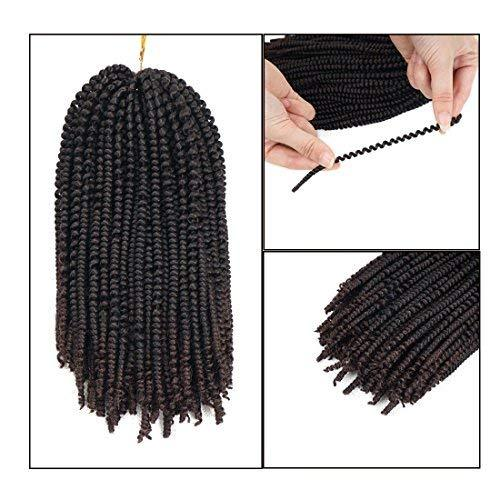 Nubian Twist Braiding Hair Ombre Color Crochet Braids Kanekalon