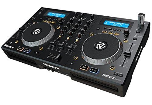 Numark Mixdeck Express - 2-Channel DJ Controller/Standalone Media Player with CD/CD MP3 and USB Playback, Dual Channel Mixer, Multi-Function Jog Wheels and Serato DJ Intro Included