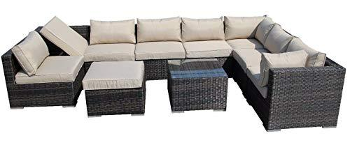 Nwn Rattan Garden Furniture Set Sofa Modular Setting 9 Outdoor Greenhouse (color : B)