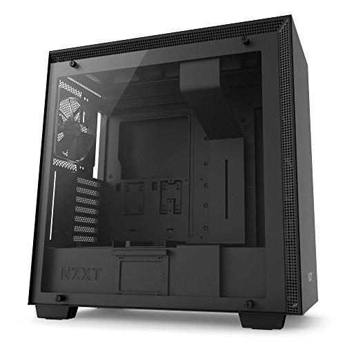 NZXT H700 Black - Mid Tower Gaming PC Case, Upto E-ATX, Tempered Glass Panel, 1x 140mm Fan, 3x 120mm Fan - CA-H700B-B1