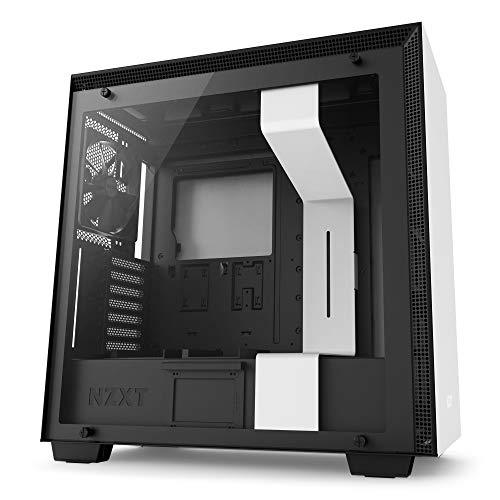 NZXT H700 White - Mid Tower Gaming PC Case, Upto E-ATX, Tempered Glass Panel, 1x 140mm Fan, 3x 120mm Fan - CA-H700B-W1