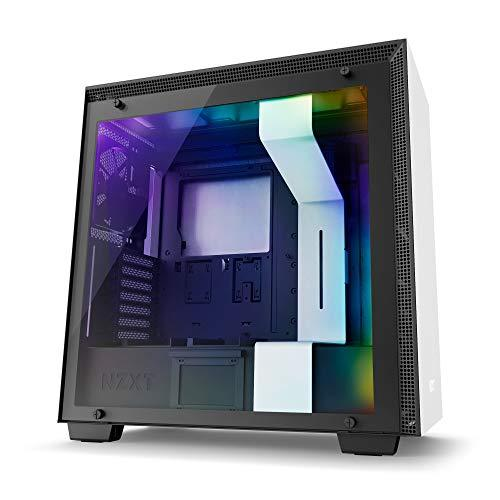NZXT H700i White - Mid Tower Gaming PC Case, Upto E-ATX, CAM-Powered Smart Hub with RGB LED Strip