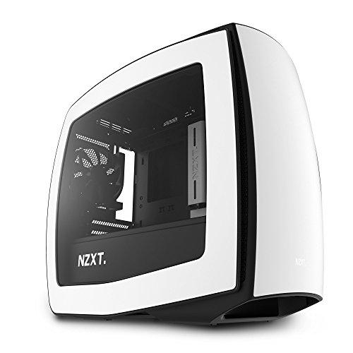 NZXT Manta White - Mini Tower Gaming PC Case, Upto mini-ITX, 3x 120mm Fan - CA-MANTW-W1