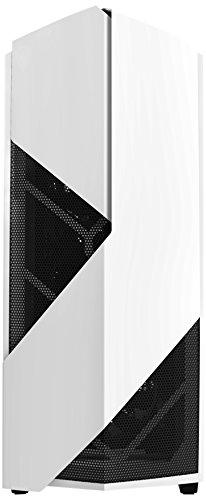 NZXT Noctis 450 White - Mid Tower Gaming PC Case, Upto ATX, 1x 140mm Fan, 3x 120mm Fan - CA-N450W-W1