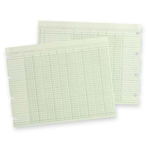 "o Acco/Wilson Jones o - Ledger Sheet, 3 Col, 9-1/4""x11-7/8"", 100/PK, Green by Wilson Jones"