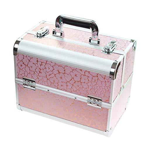 OCYE Professional makeup train case, waterproof large capacity, multi-function portable cosmetics storage box simple fashion makeup case beauty salon