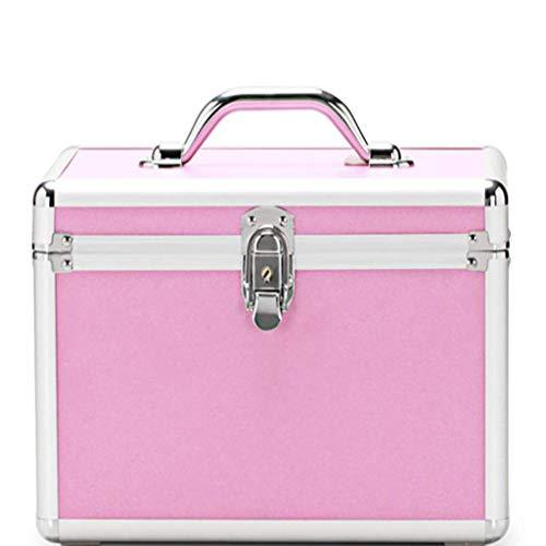OCYE Professional makeup train case, waterproof large capacity, multi-function portable cosmetics storage box simple modern makeup case beauty salon, with makeup mirror