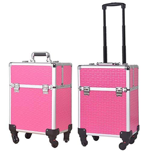 OCYE Professional makeup train case, waterproof large capacity, multi-function portable trolley cosmetic storage box simple modern makeup case beauty salon