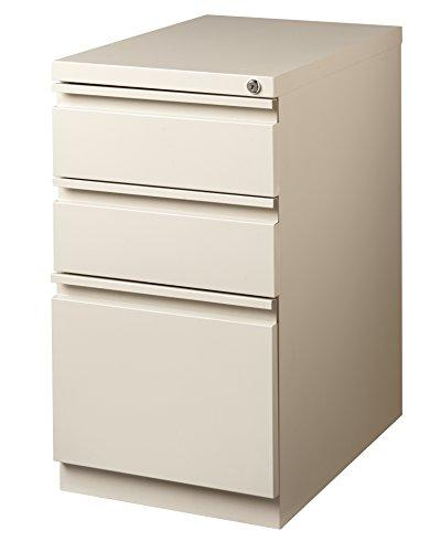 "Office Dimensions 20"" File Cabinet w/Concealed Wheels, 2 Storage Drawer and 1 File Drawer"
